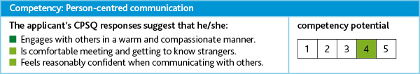 Person centred communication